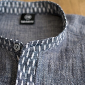 FAB #057 部分使いで楽しむ久留米絣のプルオーバーシャツ(ふだん着の久留米絣)