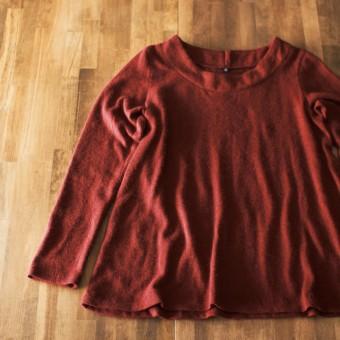 FAB #082 TシャツのパターンをアレンジしてAラインのカットソー