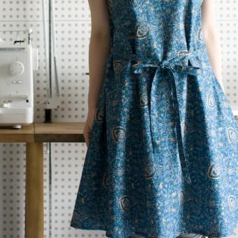 FAB #083 更紗プリントのフレアドレス(大川友美著「いつもの服、きれいな服」より)