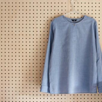 FAB #088 ふんわりコットンシャンブレーのプルオーバーシャツ