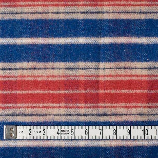 コットン×チェック(ベージュ&レッド、ブルー)×フランネル