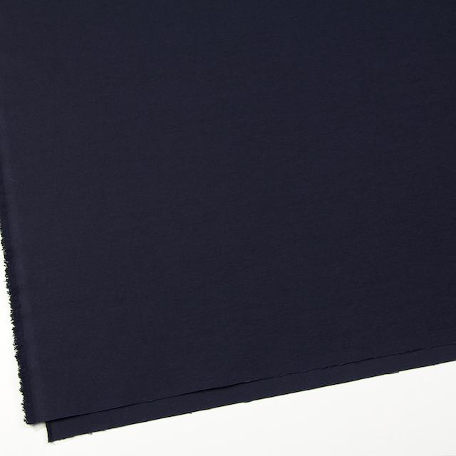 コットン×無地(ダークネイビー)×オックスフォード_全2色