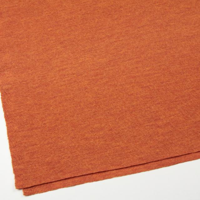 ウール×無地(オレンジ)×圧縮メッシュニット_全5色