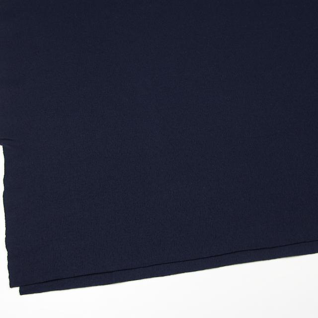ウール×無地(ネイビー)×圧縮リブニット_全8色