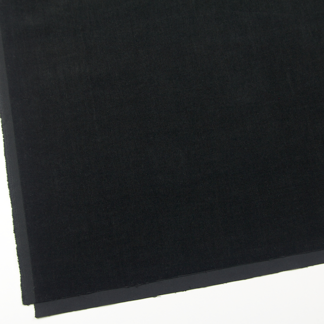 コットン&ポリウレタン×無地(ブラック)×ベッチン・ストレッチ