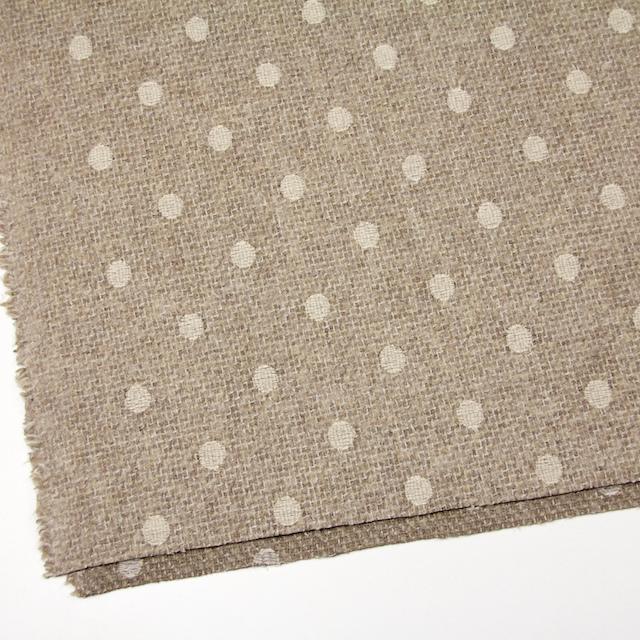 アクリル&ウール混×ドット(オートミール)×ファンシーツイード刺繍_イタリア製