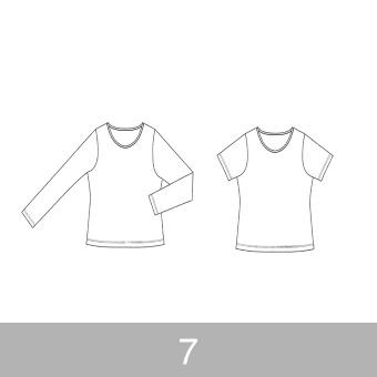 オリジナルパターン#001_Tシャツ&ロングスリーブTシャツ_7号 サムネイル1