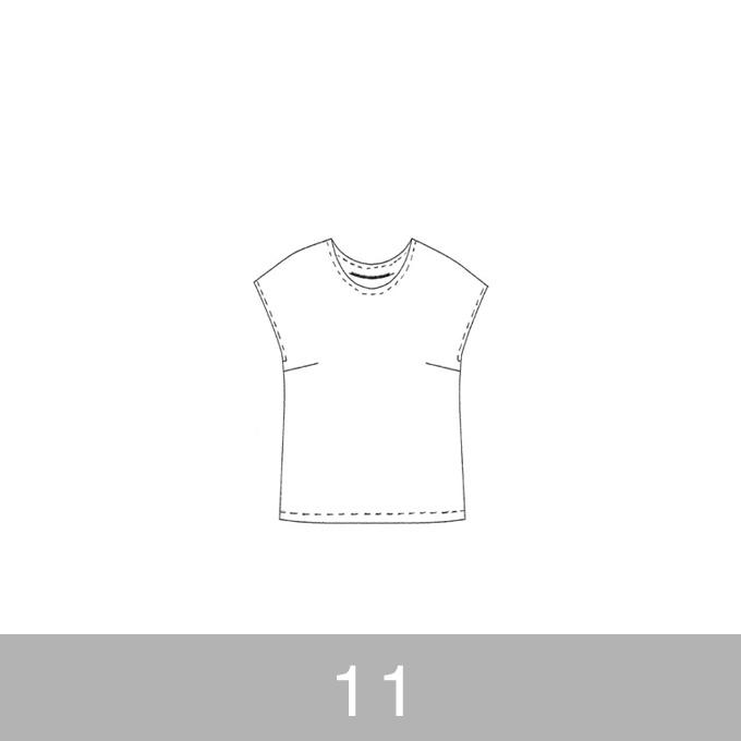 オリジナルパターン#002_フレンチスリーブブラウス_11号 イメージ1
