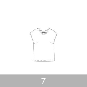 オリジナルパターン#002_フレンチスリーブブラウス_7号
