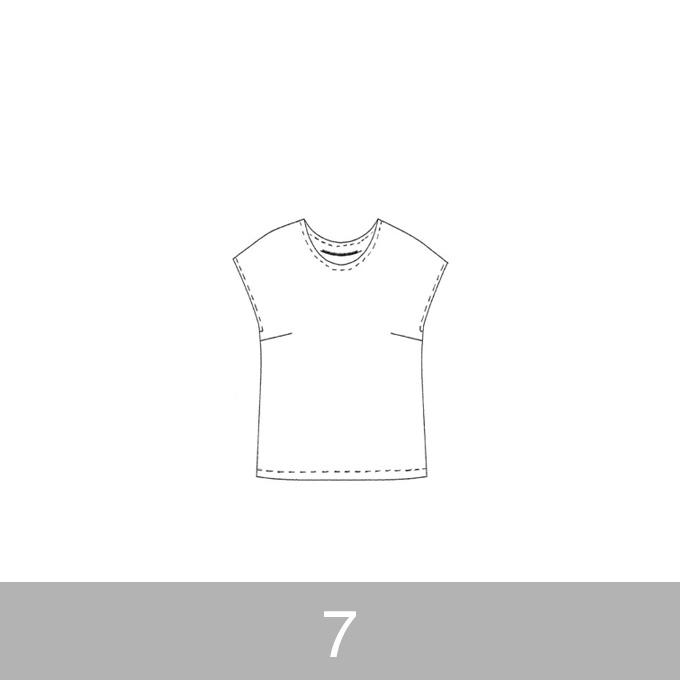 オリジナルパターン#002_フレンチスリーブブラウス_7号 イメージ1