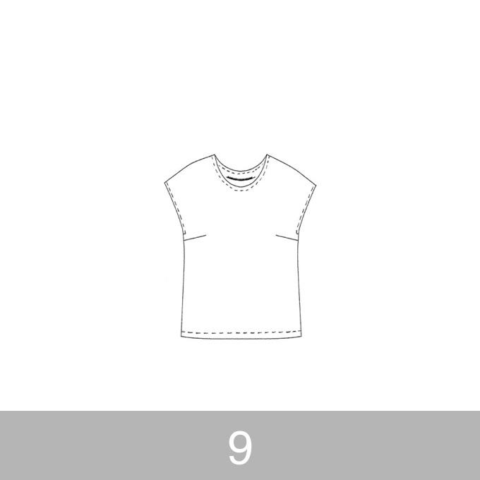オリジナルパターン#002_フレンチスリーブブラウス_9号 イメージ1