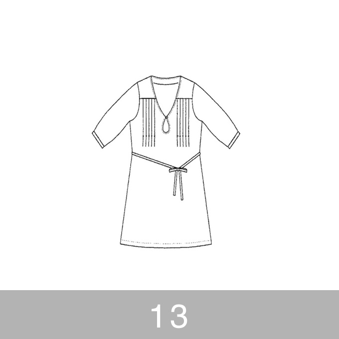 オリジナルパターン#004_五分袖ワンピース_13号 イメージ1