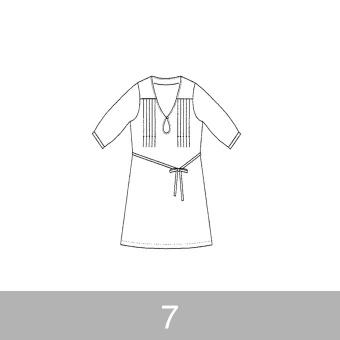 オリジナルパターン#004_五分袖ワンピース_7号 サムネイル1