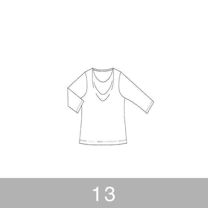 オリジナルパターン#005_ドレープカットソー_13号 イメージ1