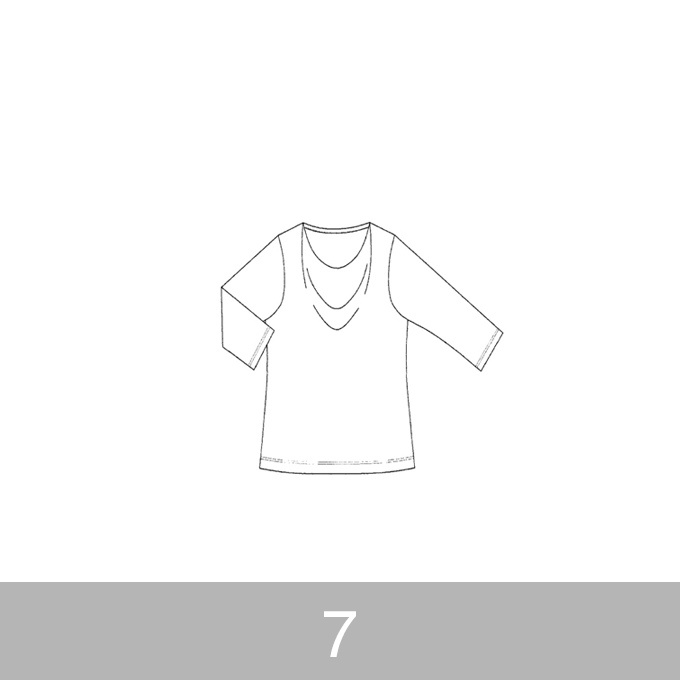 オリジナルパターン#005_ドレープカットソー_7号 イメージ1