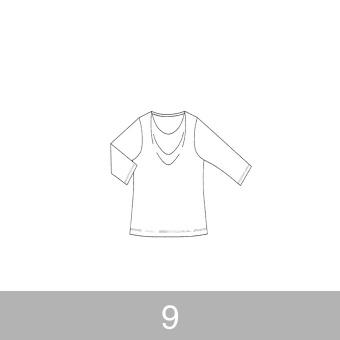 オリジナルパターン#005_ドレープカットソー_9号 サムネイル1