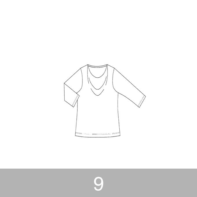 オリジナルパターン#005_ドレープカットソー_9号 イメージ1