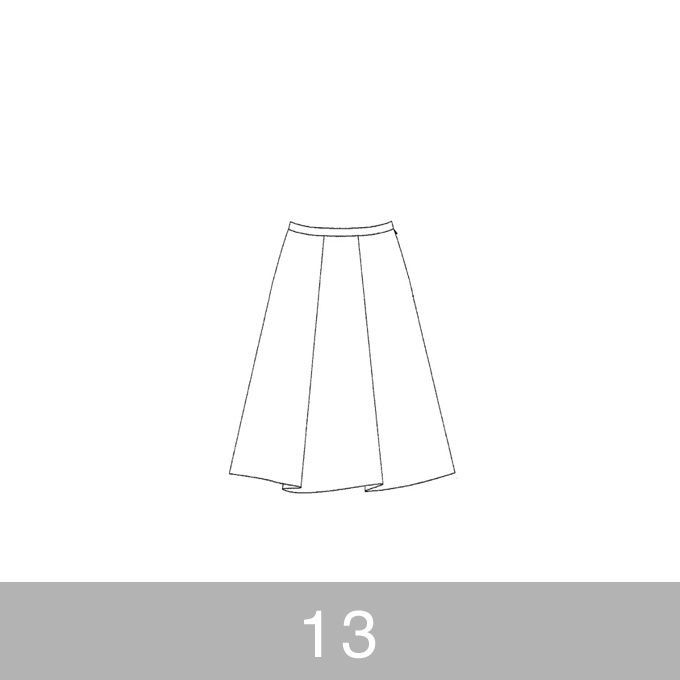 オリジナルパターン#007_タックスカート_13号 イメージ1