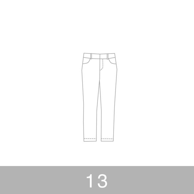 オリジナルパターン#010_クロップドパンツ_13号 イメージ1