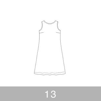 オリジナルパターン#011_ノースリーブワンピース_13号 サムネイル1