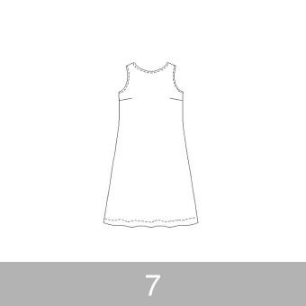 オリジナルパターン#011_ノースリーブワンピース_7号 サムネイル1
