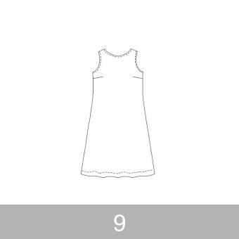 オリジナルパターン#011_ノースリーブワンピース_9号 サムネイル1