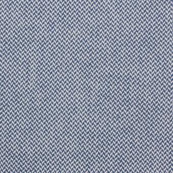 コットン×無地(ブルー)×ヘリンボーンワッシャー_イタリア製 サムネイル1