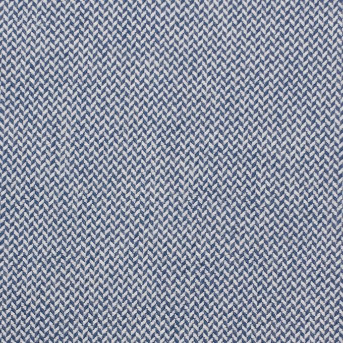 コットン×無地(ブルー)×ヘリンボーンワッシャー_イタリア製 イメージ1