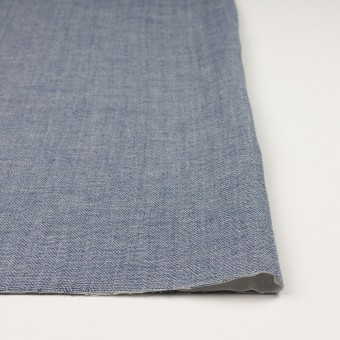 コットン×無地(ブルー)×かわり織&ガーゼ サムネイル3