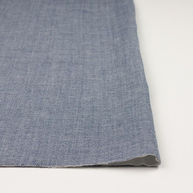 コットン×無地(ブルー)×かわり織&ガーゼ イメージ3