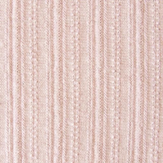コットン&リネン×無地(パウダーピンク)×模様編ニット_全5色 イメージ1