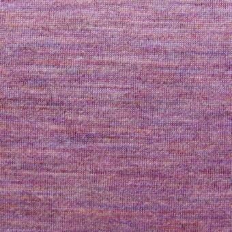 ウール&キュプラ×無地(ピンクパープルミックス)×天竺ニット_全2色