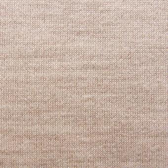 ウール&キュプラ×無地(オークル)×天竺ニット_全3色