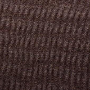 ウール&キュプラ×無地(ココア)×天竺ニット_全3色