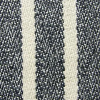 ウール&ポリエステル×ストライプ(キナリ×グレー)×かわり織