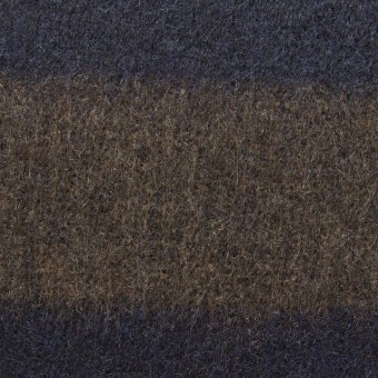 ウール×ボーダー(ブラウン&ネイビー)×ビーバー