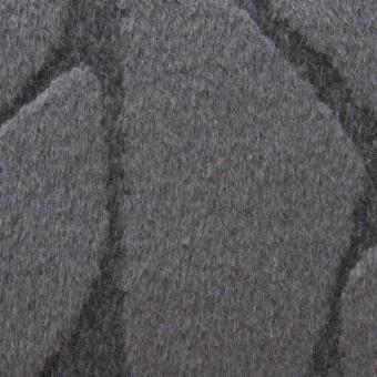 ウール&アンゴラ×ストーン(チャコールグレー)×シャギージャガード