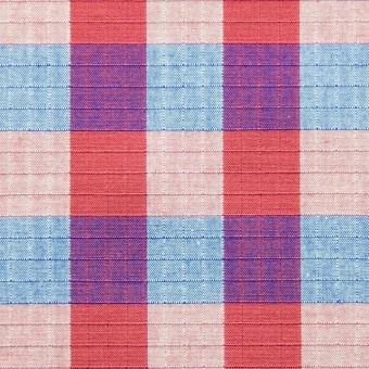 コットン×チェック(レッド&ブルー)×リップストップ_全2色