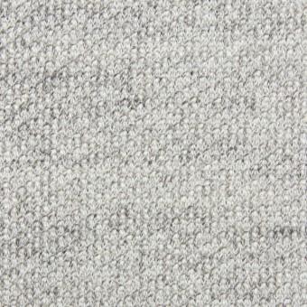 コットン×無地(ライトグレー)×裏毛丸編みニット