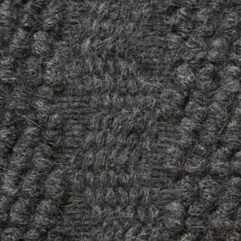 ウール×無地(チャコールグレー)×かわり織_全2色
