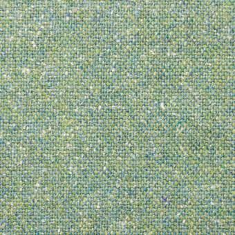 ウール&シルク混×グリーンミックス×ツイード_全2色