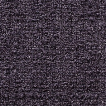ウール&ポリアミド混×無地(ダークパープル)×ファンシーツイード_全2色_イタリア製