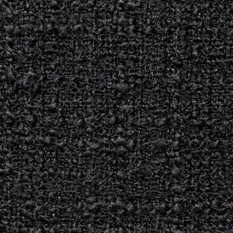 ウール&ポリアミド混×無地(ブラック)×ファンシーツイード_全2色_イタリア製