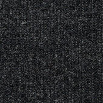 ウール×無地(チャコールグレー)×リブ編みニット_全2色