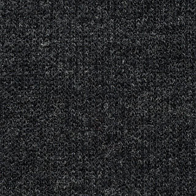 ウール×無地(チャコールグレー)×リブ編みニット_全2色 イメージ1