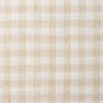 コットン&リネン×ギンガムチェック(生成)×薄シーチング_全2色