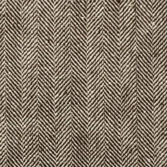コットン×無地(ダークブラウン)×ヘリンボーン_全2色