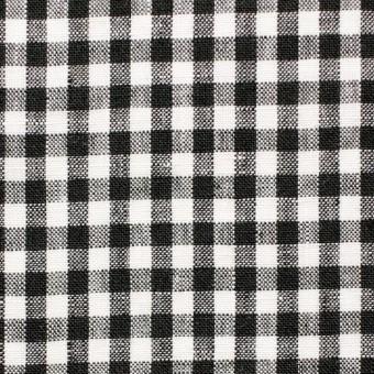 リネン×ギンガムチェック(ブラック)×薄キャンバス_全5色