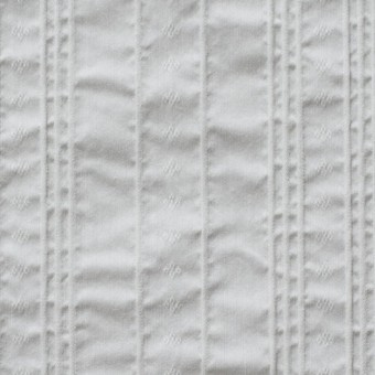 コットン&ナイロン混×ストライプ(ライトグレー)×ピンタックジャガード_全2色