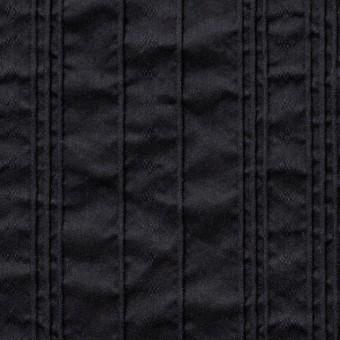 コットン&ナイロン混×ストライプ(ブラック)×ピンタックジャガード_全2色